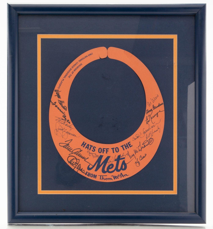 Autographed 1969 New York Mets NLCS Souvenir Visor