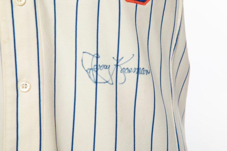 Jerry Koosman Autographed Jersey - Autograph Detail