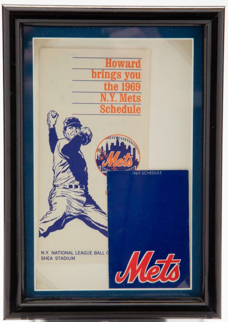 1969 New York Mets Pocket Schedule