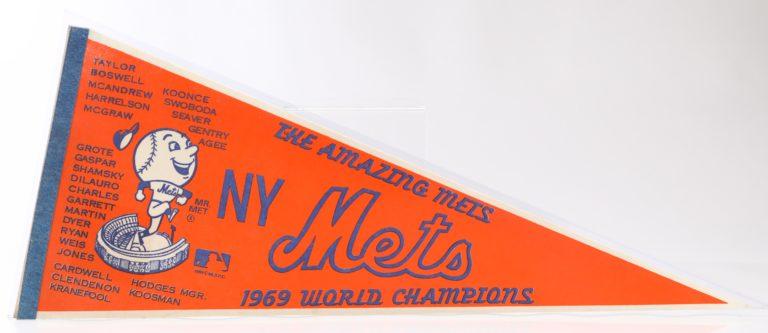 Amazing Mets 1969 World Champions Pennant