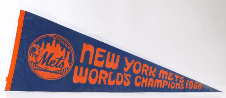 1969 New York Mets World's Champions Pennant