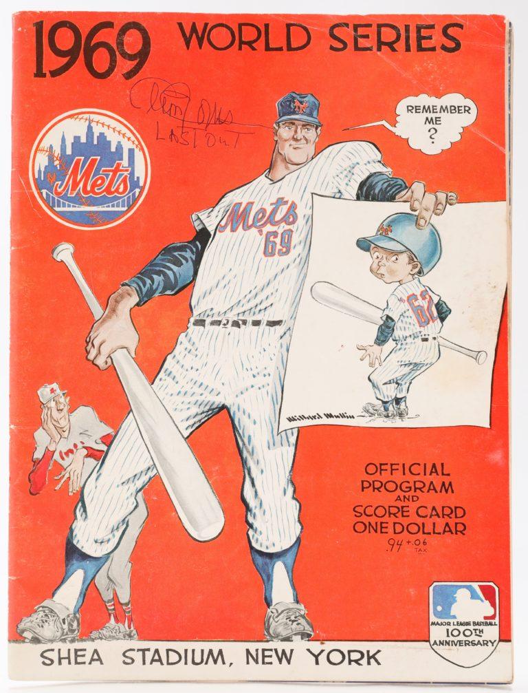 Cleon Jones Autographed World Series Program