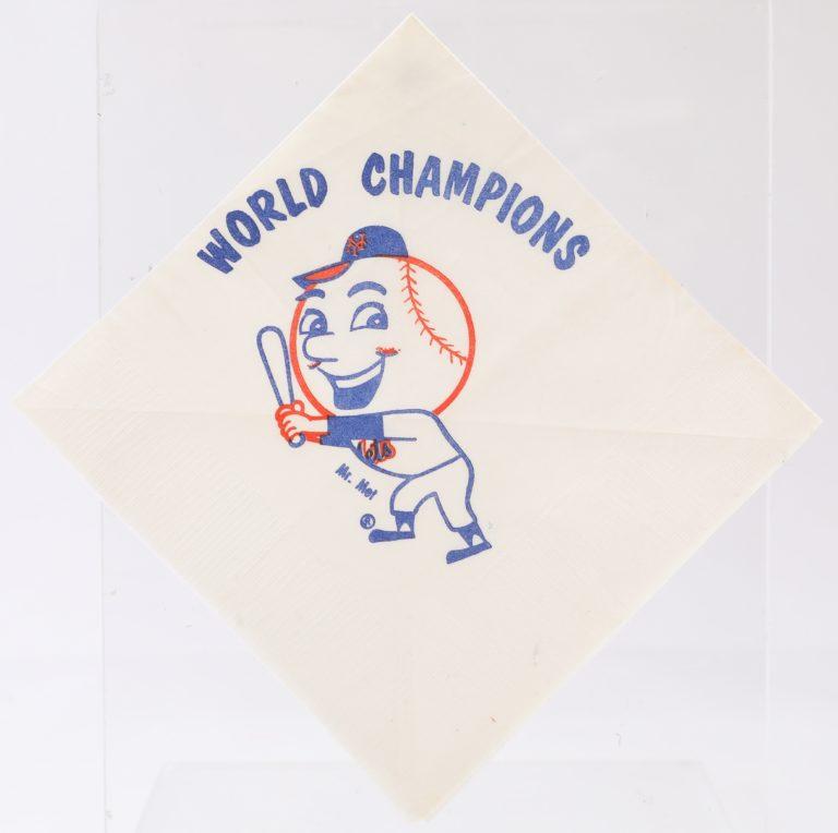Mr. Met World Champions Napkin