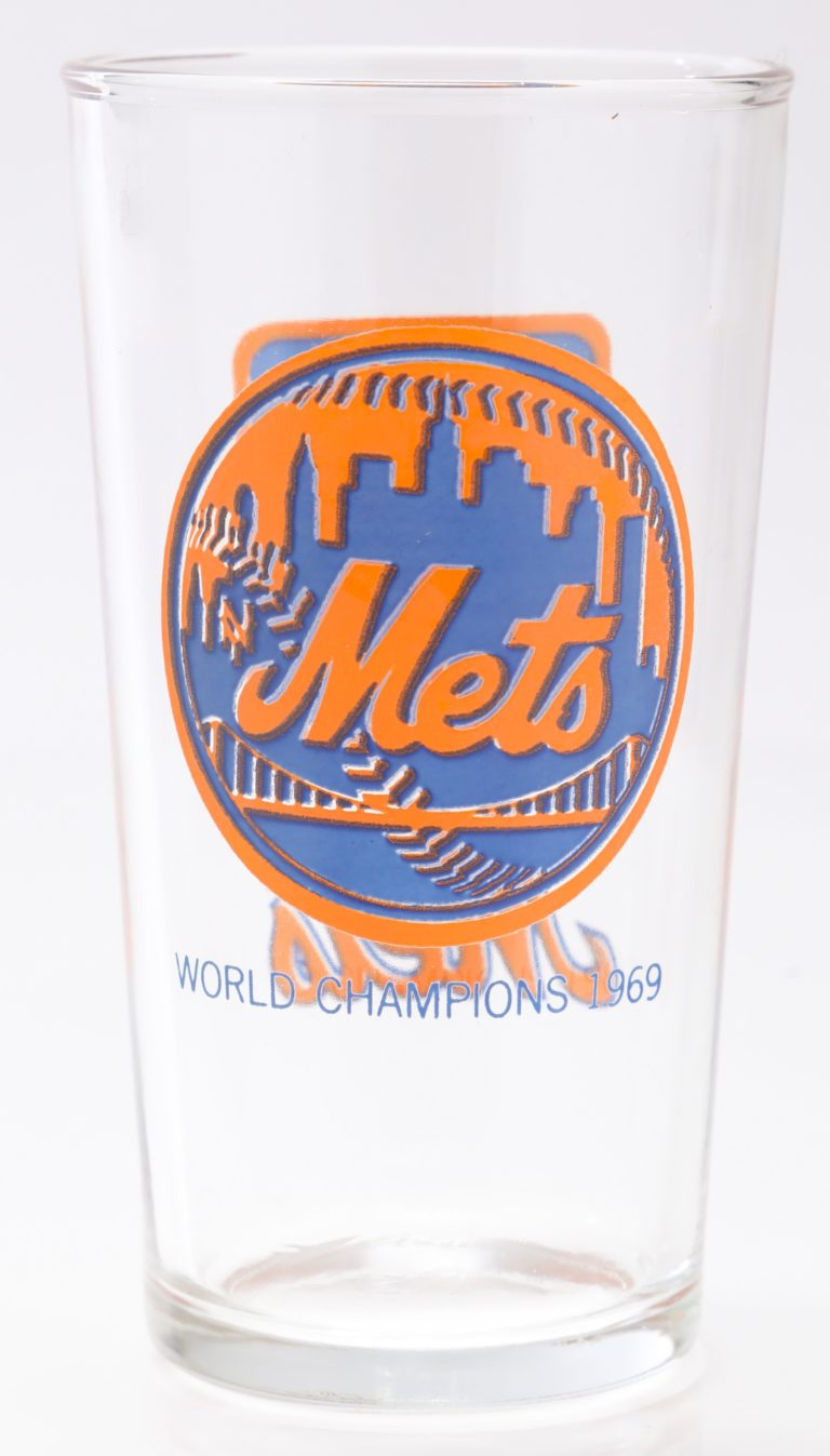 New York Mets 1969 World Series Pint Glass