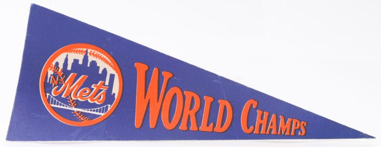 New York Mets 1969 World Champs Pennant