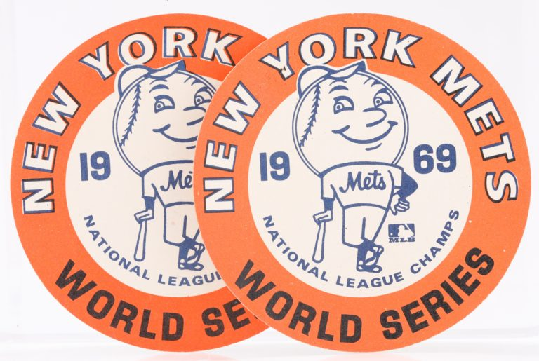New York Mets 1969 World Series Button With Mr. Met