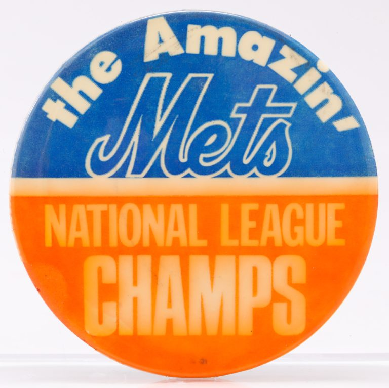 1969 Mets National League Champs Button