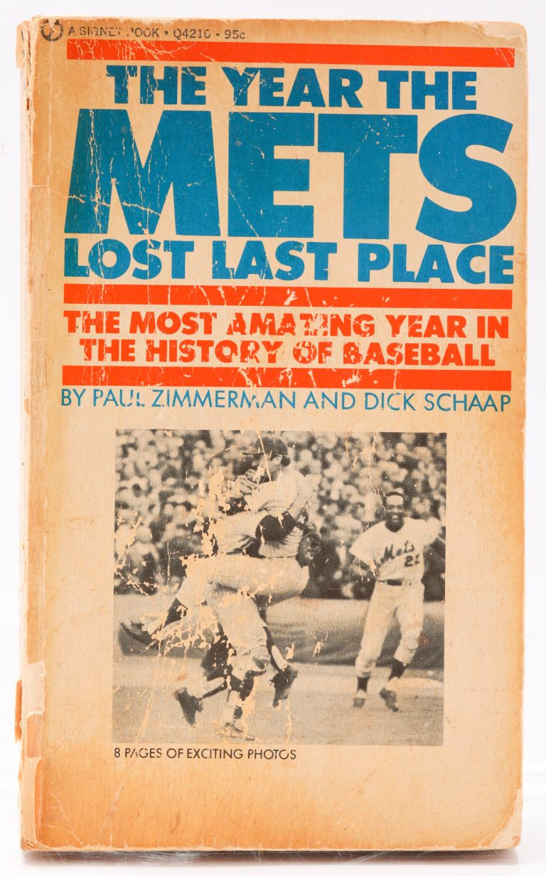 Cover of The Year the Mets Lost Last Place by Paul Zimmerman and Dick Schaap