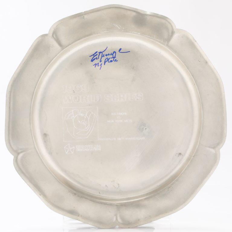 Kranepool Signed 1969 World Series Plate