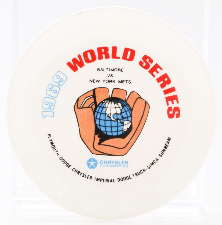 Globe in Glove 1969 World Series Ashtray