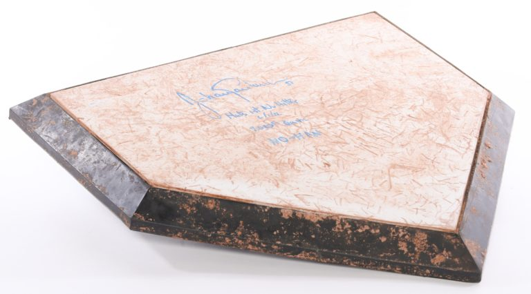 Santana Autographed Home Plate from No-Hitter