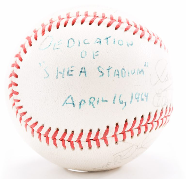 Autographed Baseball from Shea Stadium Dedication