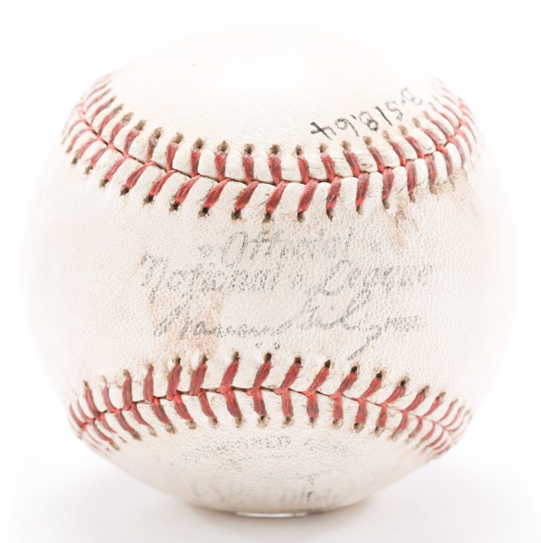 Game-Used Ball From Final Game at Polo Grounds