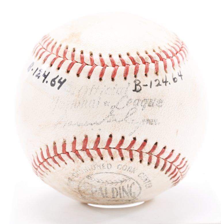 Stengel Autographed Ball from First Shea Game