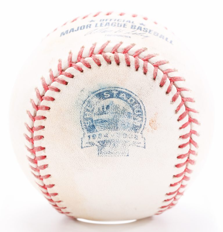Game-Used Ball from Final Game at Shea Stadium