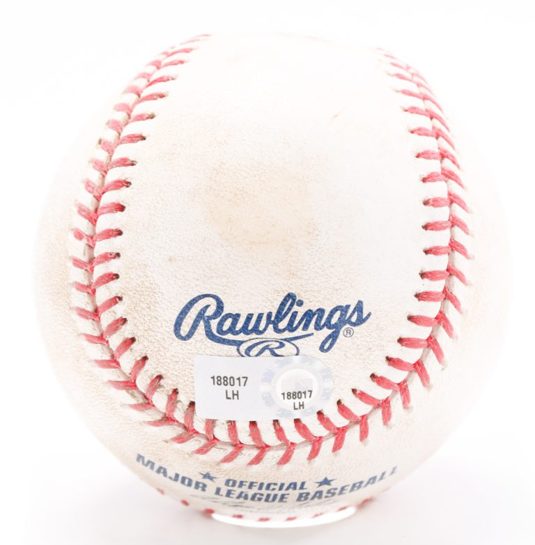 Game-Used Ball from First Game at Citi Field
