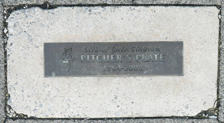 Site of Shea Stadium Pitcher's Plate