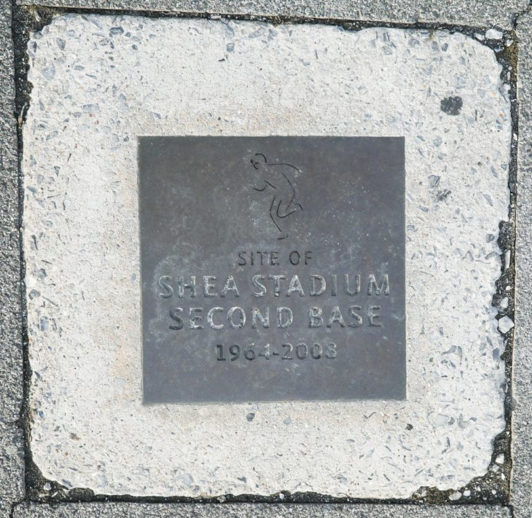 Site of Shea Stadium Second Base