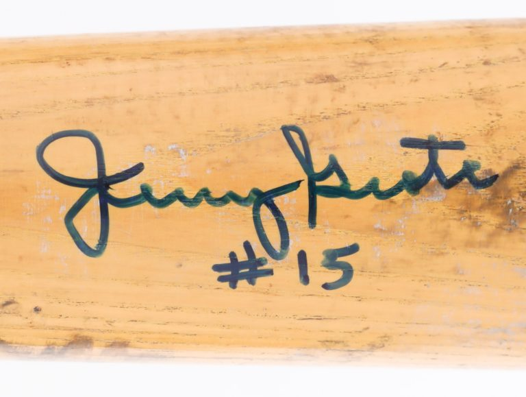 Jerry Grote Autographed Game-Used Bat - Autograph Detail