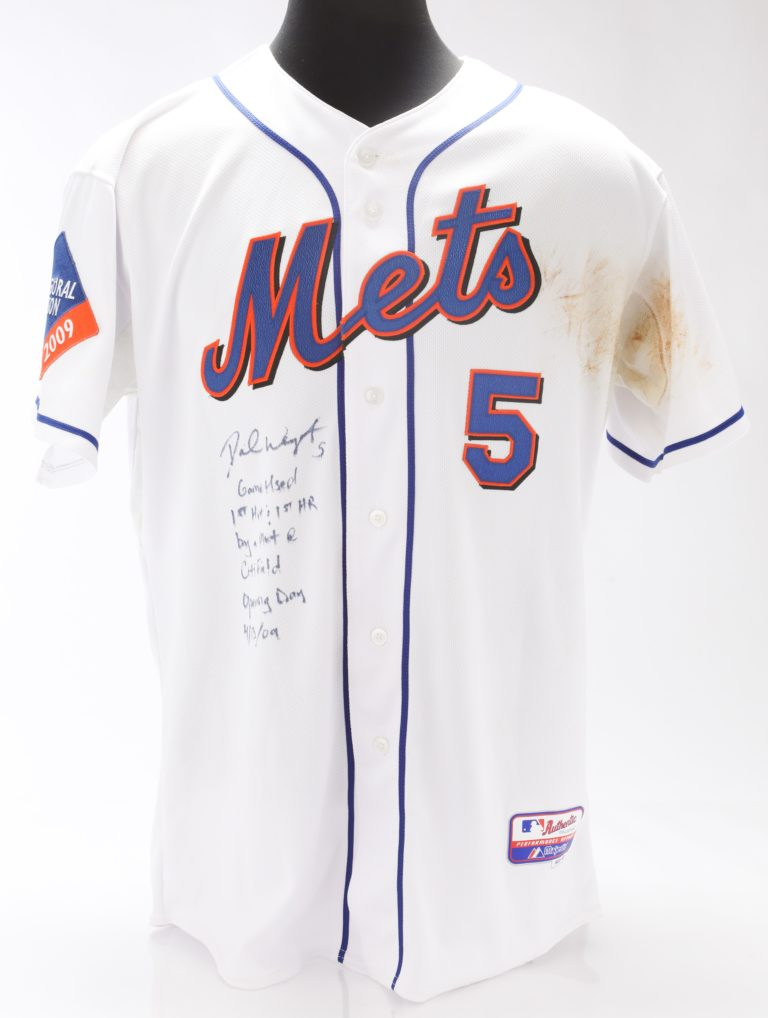 Wright Signed Jersey from First Citi Field Home Run