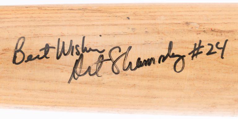 Art Shamsky Autographed Baseball Bat - Autograph Detail