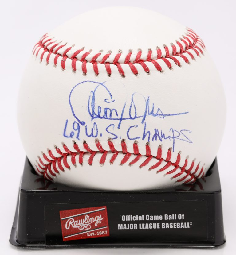 Cleon Jones Autographed Baseball - Autograph Detail