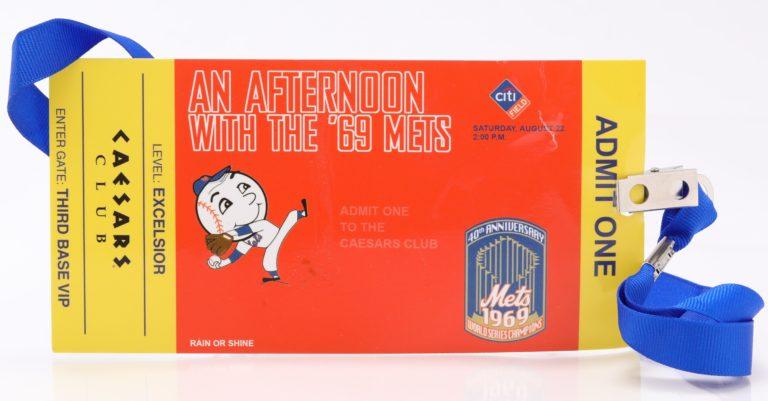 New York Mets World Series 40th Anniversary Celebration Ticket