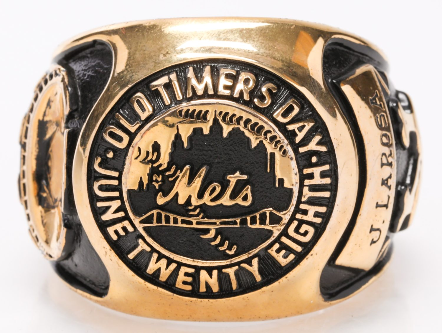 1975 Old-Timers Day Ring from Shea Stadium - Top View