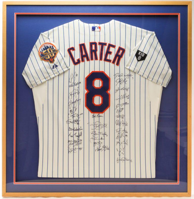Mets Team Autographed Gary Carter Jersey