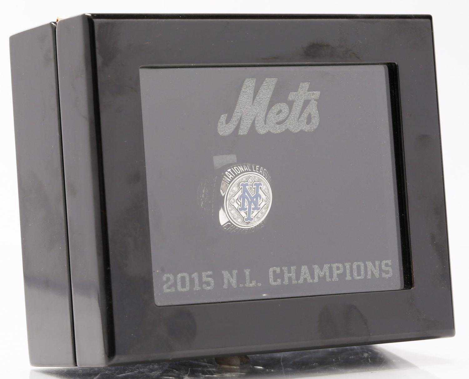 New York Mets 2015 NLCS Championship Ring in Display Case