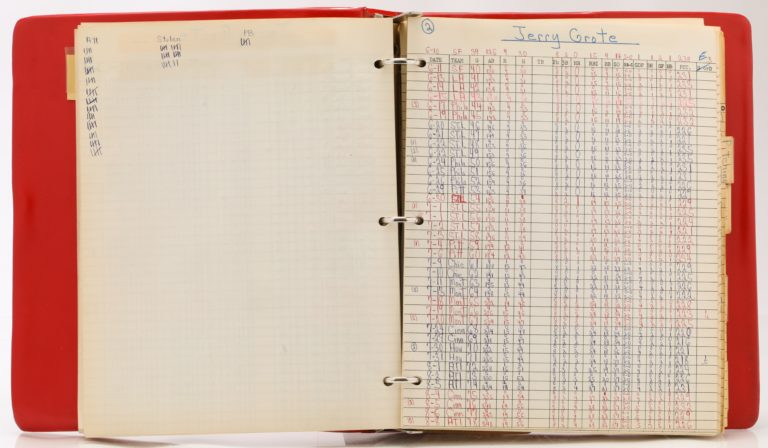 Jerry Grote's Statistics Page from 1969