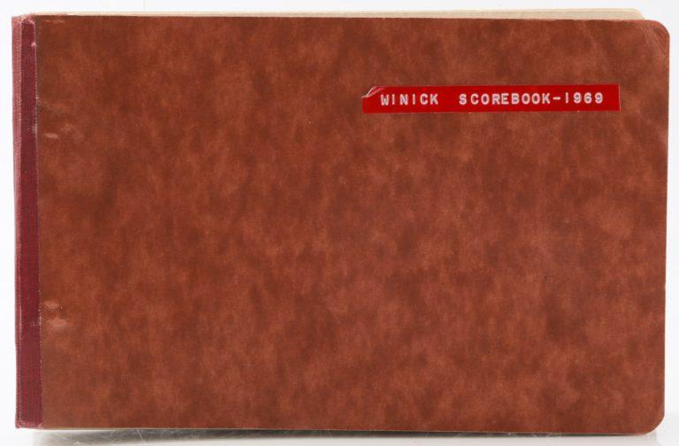 Matt Winick Scorebook from Mets 1969 Season