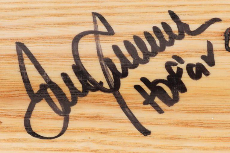 Tom Seaver Autographed Baseball Bat - Autograph Detail