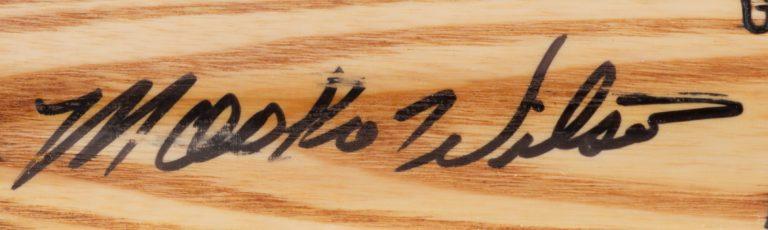 Mookie Wilson Autographed Baseball Bat - Autograph Detail