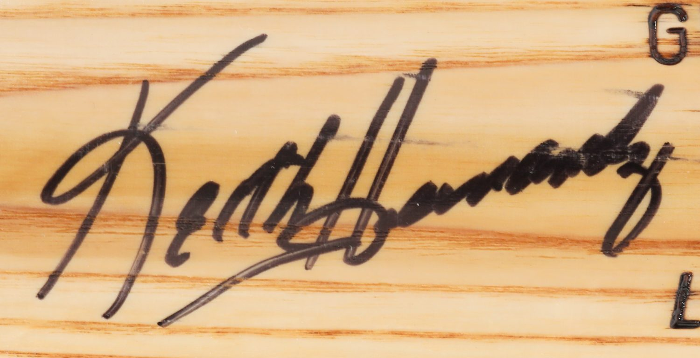 Keith Hernandez Autographed Baseball Bat - Autograph Detail