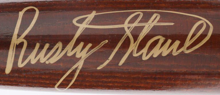 Rusty Staub Signed Commemorative Baseball Bat - Autograph Detail