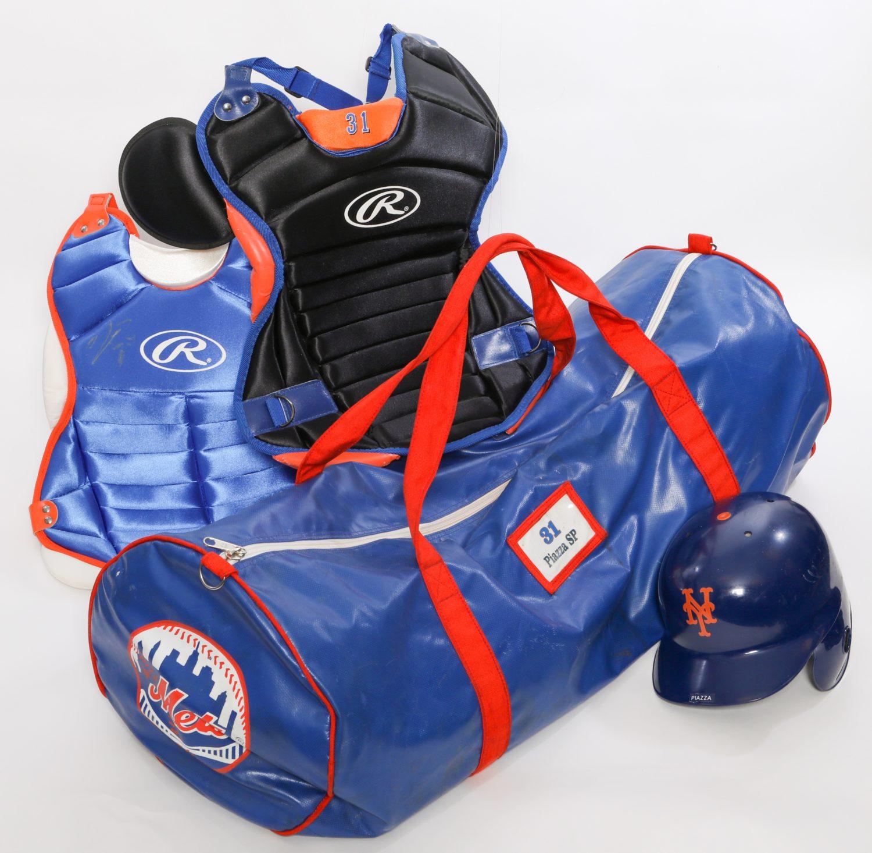 Mike Piazza's Catcher's Equipment