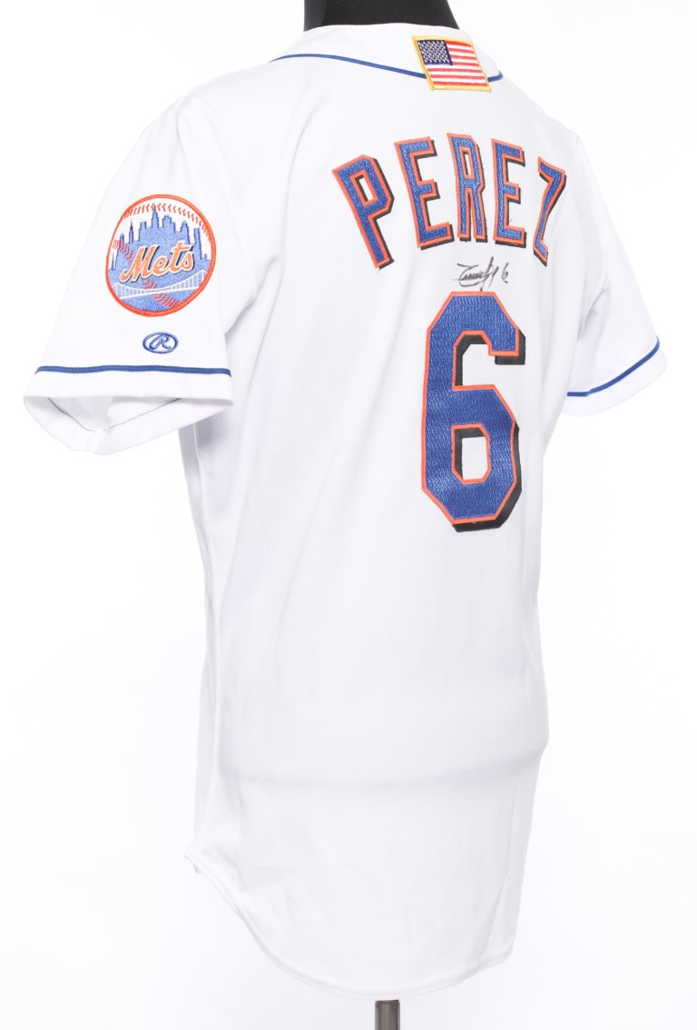 Timo Perez Autographed 9/11 Memorial Jersey