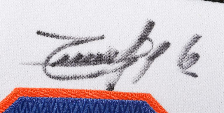Timo Perez Autographed 9/11 Memorial Jersey - Autograph Detail