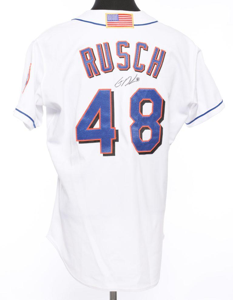 Glendon Rusch Autographed 9/11 Memorial Jersey - Back
