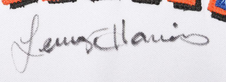 Lenny Harris Autographed 9/11 Memorial Jersey - Autograph Detail