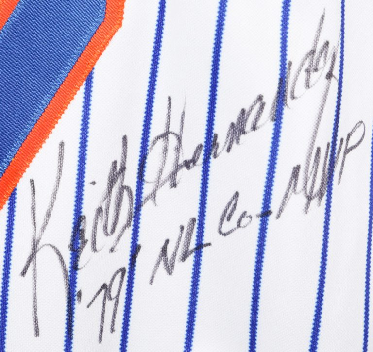Keith Hernandez Autographed Jersey - Autograph Detail