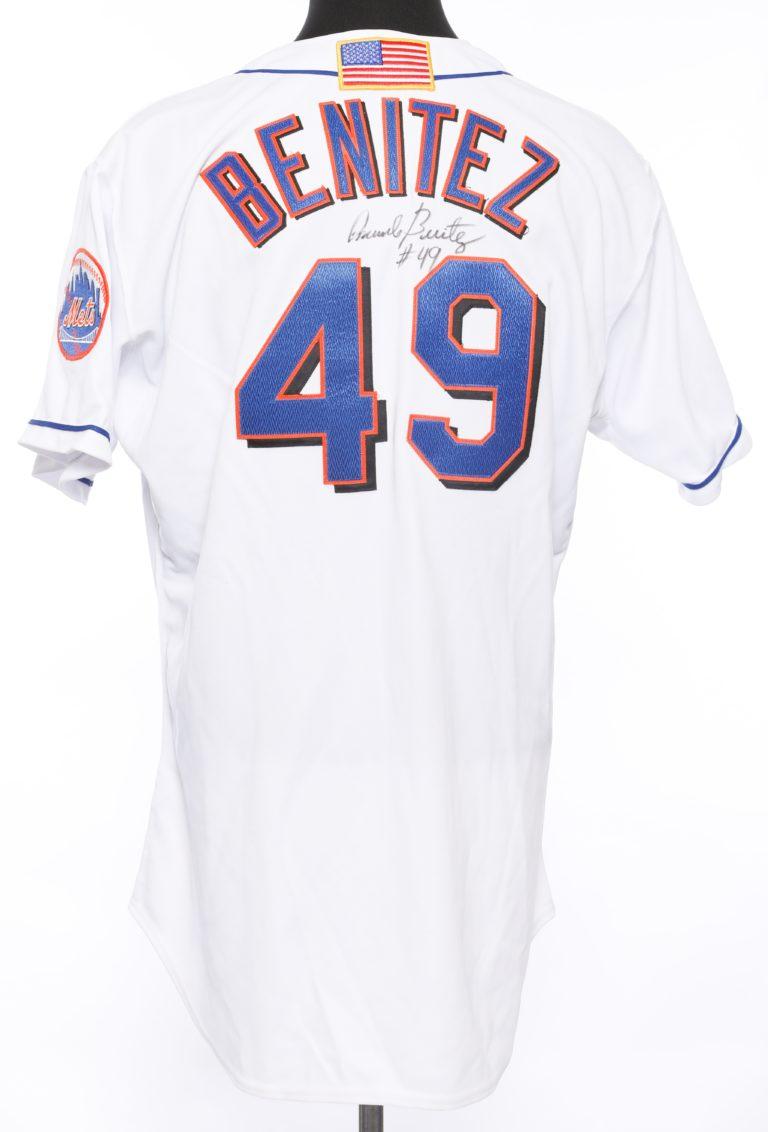 Benitez Autographed 9/11 Memorial Jersey - Back