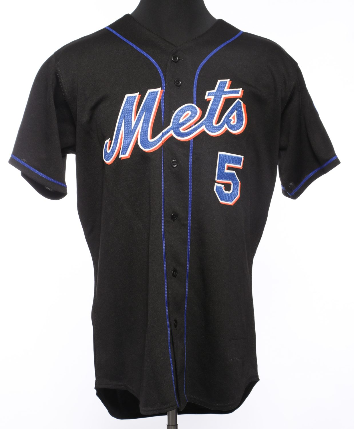 David Wright Autographed Black Mets Jersey - Front