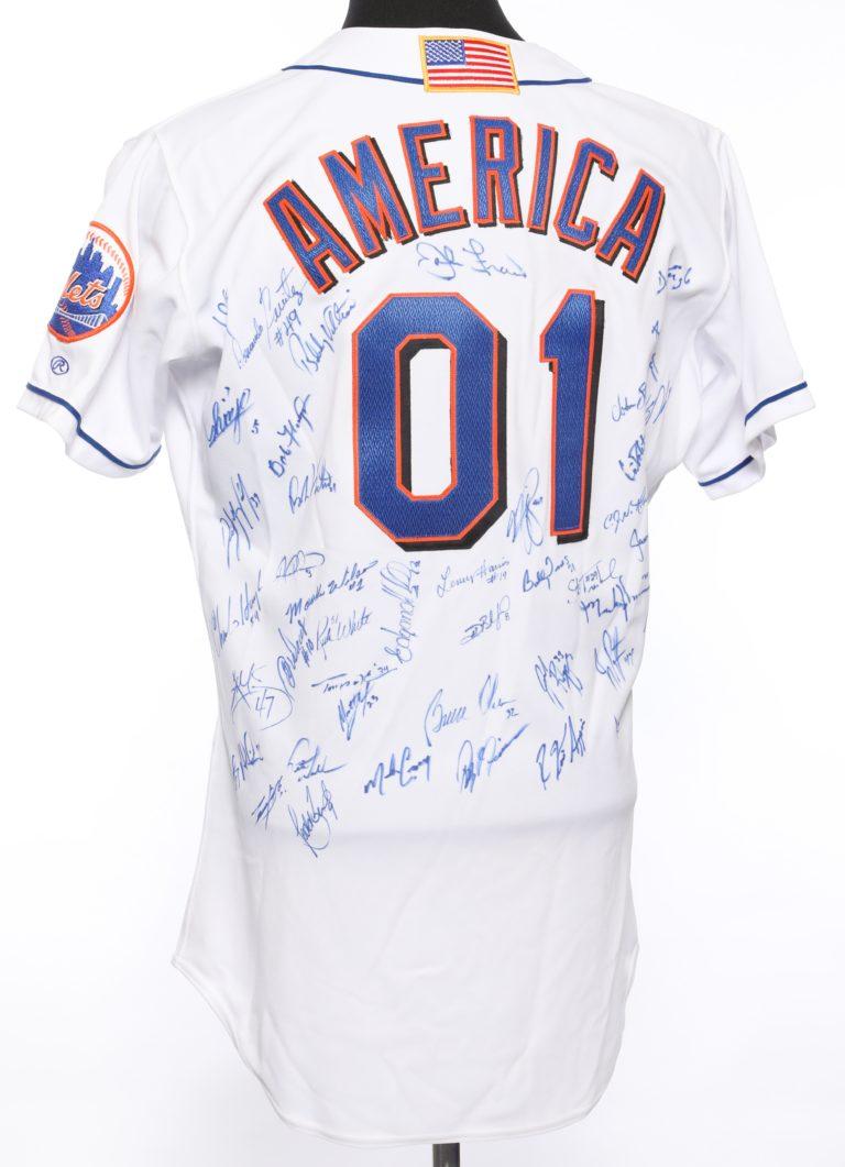 Autographed Mets 9/11 Memorial Jersey