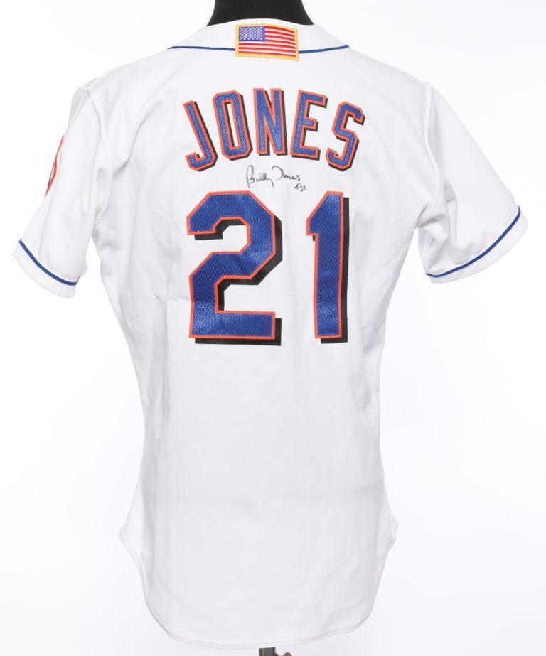 Bobby Jones Autographed 9/11 Memorial Jersey - Back