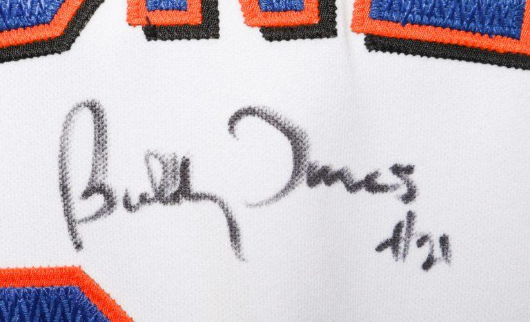 Bobby Jones Autographed 9/11 Memorial Jersey - Autograph Detail