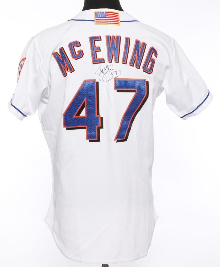 Joe McEwing Autographed 9/11 Memorial Jersey