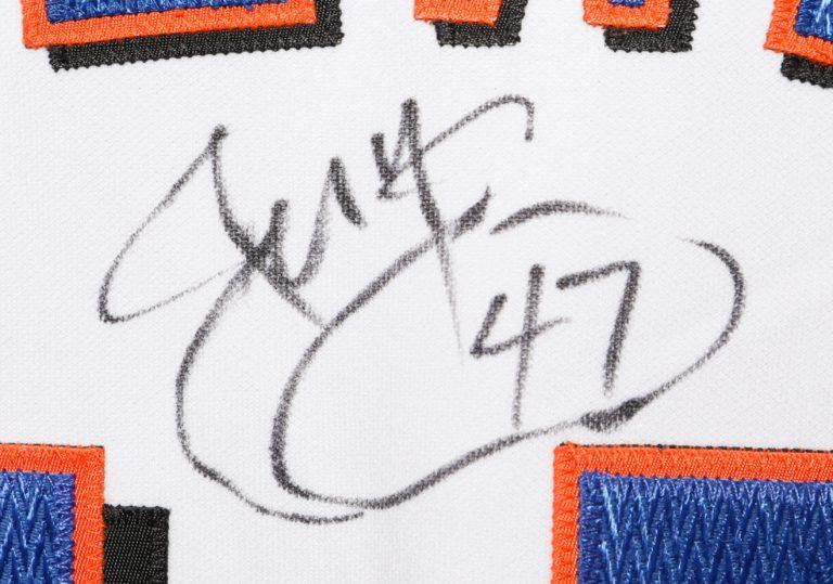 Joe McEwing Autographed 9/11 Memorial Jersey - Autograph Detail