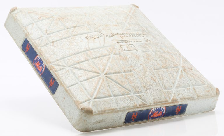 Base from Game When Noah Syndergaard Hit his First MLB Home Run